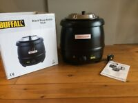 Buffalo Black Soup Kettle 10Ltr/360X345mm Stainless Steel mains electric