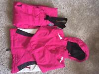 Pink ski outfit
