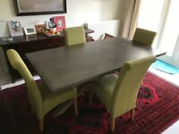 Lovely modern dining table sets with 4x chairs