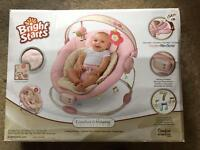 Bright Starts Comfort & Harmony Pink Baby Bouncer