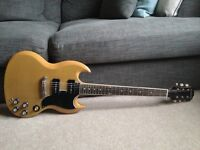 Epiphone sg 61 re issue, tv yellow, p90
