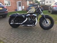 Harley Davidson fourty eight bobber chopper cruiser