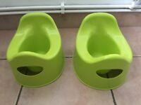 2 x Ikea potties