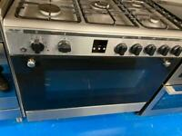 Stainless steel bosh 90cm dull full cooker grill & fan assets ovens with guarantee