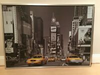 New York framed canvas