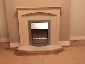 Dimplex Electric Fire, Mantlepiece and Hearth - Excellent Condition
