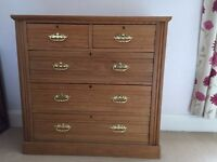 Large Wooden Chest of Drawers Vintage