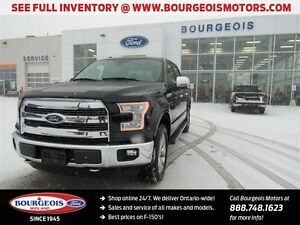 2016 Ford F-150 LARIAT 4X4 CREW DEMO TWIN PANEL MOONROOF 502A