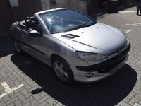 PEUGEOT 206cc Coupe, Full Leather Intirior, Alloy Wheels, HPI Clear, Warranted Mileage.
