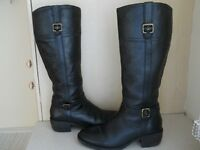 BLACK KNEE HIGH HUSH PUPPIES BOOTS SIZE 6