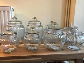 Laura Ashley Brand new glass sweetie jars