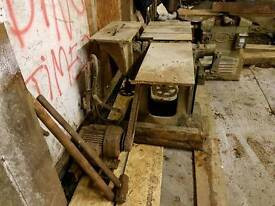 Vintage lathe and wood preparation machinery