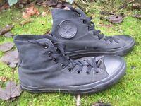 Black Converse Allstars baseball boots size 7