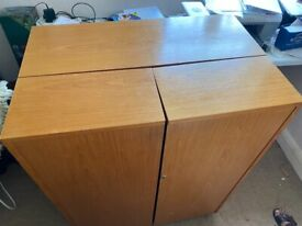 Vintage Timber Desk Bureau in great condition with storage