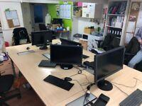 Set of 4 office desks