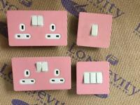 Pink sockets and switches