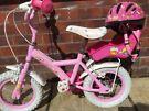 """Girls 12"""" Cupcake bike with matching helmet"""