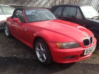 1998 BMW Z3 RED CONVERTIBLE 1.9 ALLY WHEELS RWD BARGAIN
