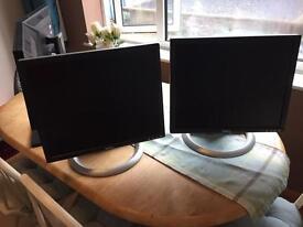 2x Dell monitors