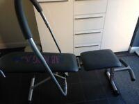 Ab cruncher/weight bench £12
