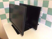 """2 x Fujitsu B22T-7 LED proGREEN - LED monitor - Full HD (1080p) - 21.5"""", VGA, DVI, HDMI, Speakers"""