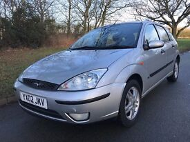 2002 FORD FOCUS ZETEC SILVER HUGE SERVICE HISTORY RECORD