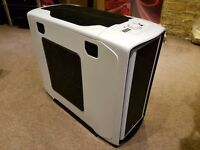 Corsair Carbide 600T White PC Computer Case + Corsair H100 AIO CPU Water Cooler