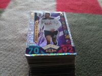 116 match attax cards including 16 shiny cards and 3 hindered clubs