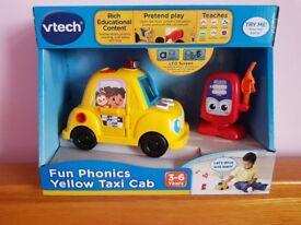VTECH FUN PHONICS YELLOW TAXI CAR NOISE BNIB