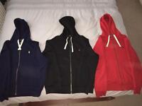 3 x Polo Ralph Lauren Zip up hoodie ( Genuine )