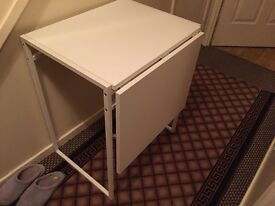 White extendable IKEA table