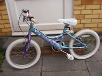 """RALEIGH GIRLS 18"""" WHEEL BIKE IN GREAT WORKING CONDITION AGE 5+"""