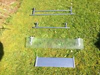 Chrome Plated towel rails and shelves