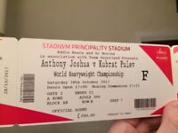 Anthony Joshua vs Carlos Takam - Boxing Tickets (Pulev out injured) - FACE VALUE