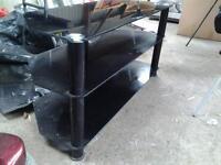 very nice glass black tv cabinet