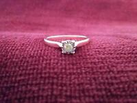 ***REDUCED PRICE was £180*** Dazzling Solitaire Diamond Ring