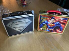 Rare Collectable Limited Edition Superman Lunch Tins