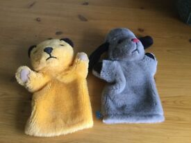 GENUINE SOOTY AND SWEEP (with squeaker) GLOVE PUPPETS