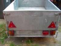 """Trailer 5ft x 3ft 6""""x 16"""" deep ideal camping or car-booting NOW REDUCED FIRST £200 ONO"""