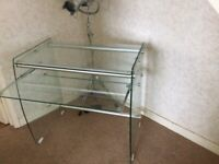 Bespoke glass office desk £80