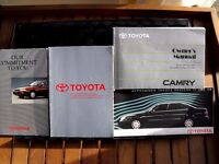 ORIGINAL TOYOTA CAMRY OWNERS PACK
