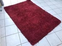 Red Shaggy rug from Dunelm