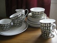 ROYAL TUSCAN CHINA SET 'CONCERTO' - RETRO, LOVELY LOOK