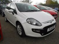 fiat punto evo 1.2 mylife 5dr,one owner 2011 facelift model in bianco white,mot feb 2018