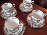 Paragon 'Tree of Kashmir' 1950s vintage bone china set of 4 place setting tea set incl postage