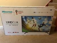 "Hisense 50"" smart 4K ultra HD TV brand new un opened"