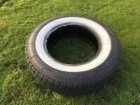 "Coker Classic Whitewall Tyre 195/75/14 Tyre 195 75 R14 14"""