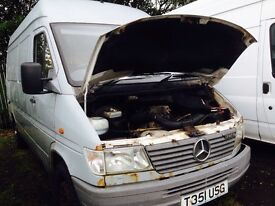 Mercedes sprinter 312d 412d spare parts available ecu set wiring loom indicator stock heater blower