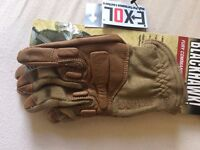 Fury Commando Gloves With Nomex Tactical L/XL Tan Coyote Military SAS New RRP £85 FREE POSTAGE