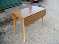 Vintage Retro Formica Extending Drop Leaf Kitchen or Dining Table